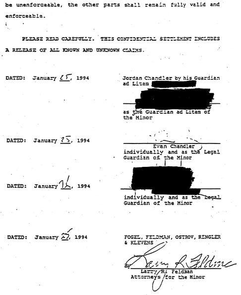 28 1993 settlement