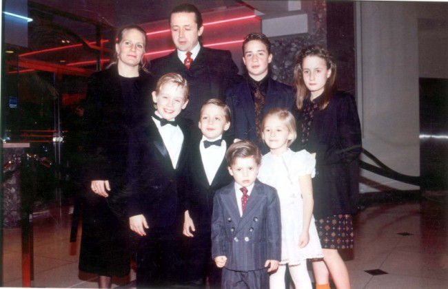 Macaulay Culkin with his sister...