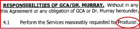 Conrad Murray's responsibilities were to perform the services requested by AEG (and not by Michael Jackson)