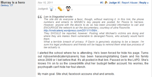 ... attention of Michael Jackson's Topix haters | Vindicating Michael
