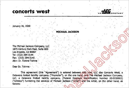 The AEG contract with Michael Jackson – Contract Between Two People