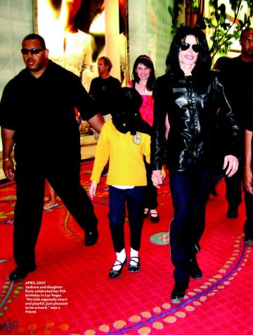 Michael Jackson is celebrating Paris's birthday in Las Vegas. People Magazine, April 2007