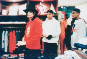 "[MJ is doing shopping with his nephews]. From Rabbi Shmuley's book - MJ: You feel like a prisoner and you feel like you are going to die. And that's it. I am walking and I would just go walking down the street and traffic would get backed up and people would be taking pictures. I knew I looked sad and some people would come up and talk, and they would go. -""What are you doing?"" I'd go, ""I am walking."" They'd go, ""Why are you walking? Where are all the guards?"" I said. ""I don't feel like all that. I just want to walk and I am looking for someone to talk to me."" So they would talk to me. I've done that many times. I'd ask people to be my friend and they'd say. ""Sure."" It's true. I'd go to the parks. Then I realized that that could be dangerous too, but I was hurting that much.SB: Were they intimidated when you asked them to be your friend? Did they say, ""I can't be your friend. . . you are Michael Jackson?""MJ: I would even ask for their phone numbers."
