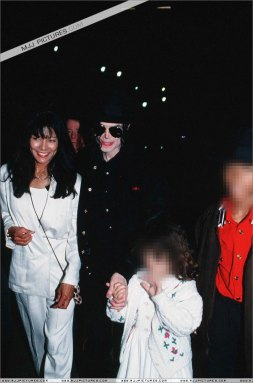 Michael Jackson and June Chandler in Monaco  with Lily and Jordan