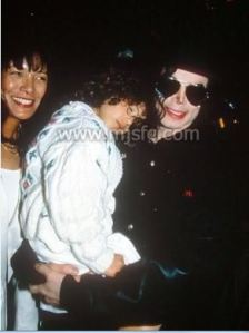 June Chandler, Lily and Michael Jackson in Monaco, May 1993
