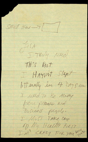 MJ's note to Lisa Marie