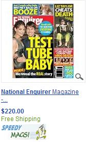 Nat.Enquirer old copy offered at $220