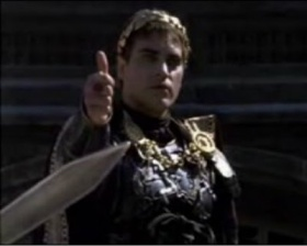 The Thumbs up gesture meant that the gladiator would live