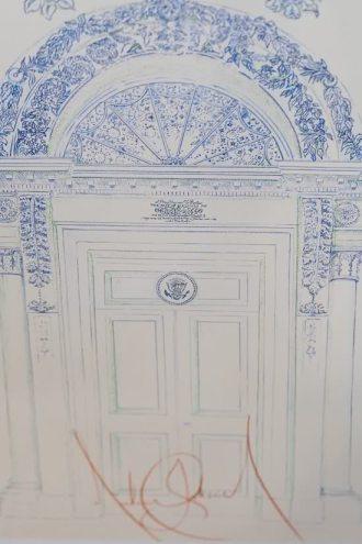Michael's artwork. A door