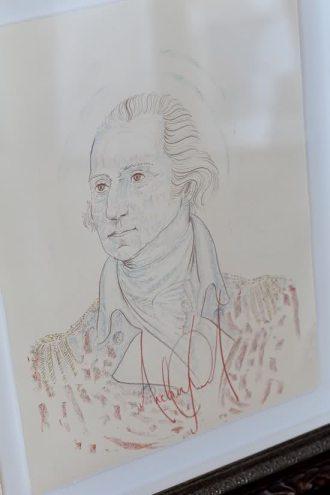 Michael's artwork. The portrait of George Washington