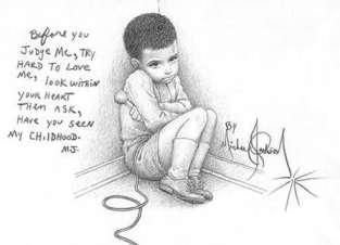 Michael's artwork. Childhood