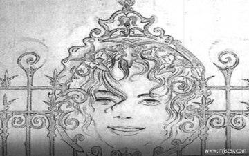 Michael's artwork. The Neverland gate