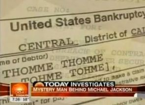 Bankruptcy documents for Tohme also call him Thomme. Yes, at some point in time he evidently filed bankruptcy