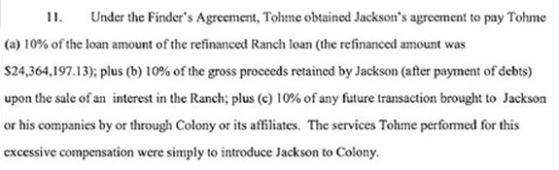 Tohme's terms on selling Neverland