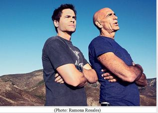 Tom Barrack and friend are overlooking Neverland