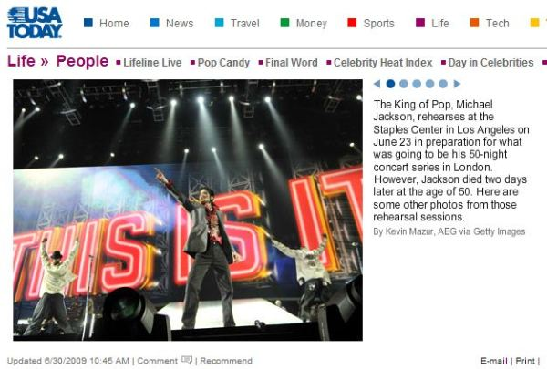 The screen shot from USA Today saying that the rehearsal was on June 23d