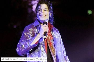 Getty: It was Michael Jackson's last performance