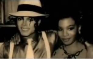 Alif Sankey with Michael Jackson when making Smooth Criminal