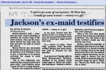 Blanca Francia Dec.16, 1993. Pisttsburgh Pst-Gazette, top part