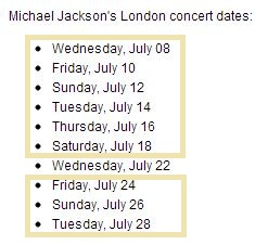 Even out of the first 10 shows 9 were set with a one day break only