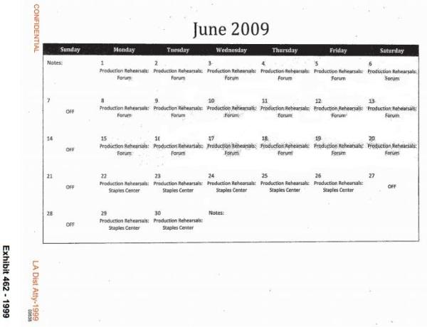 June rehearsals