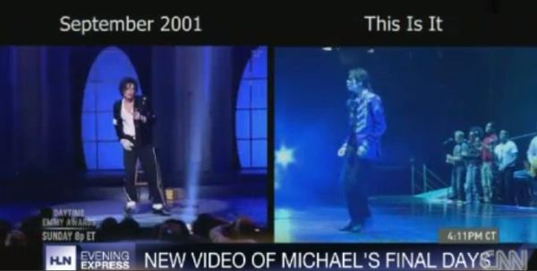 The video of Michael doing spins in 2001 and 2009 was shown to the jury. The stage manager said that in April 2009 Michael could do multiple 360 spins but two months later he would fall on his a**.