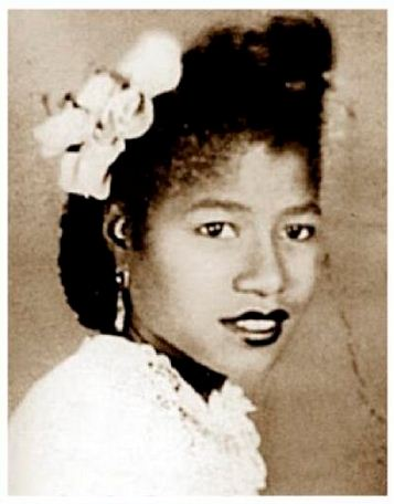 Katherine Jackson in high school