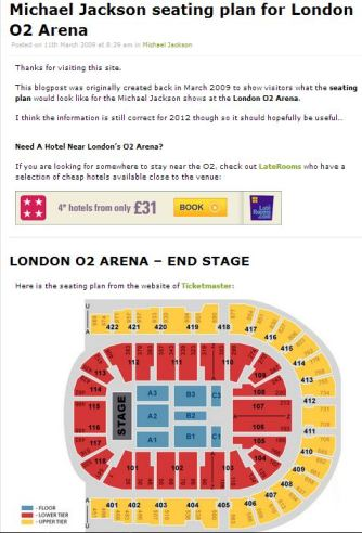The tickets sold for MJ's shows and the O2 arena seating capacity