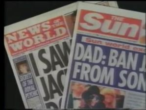 The News of the World is fortunately dead, while the Sun is still slaughtering people with lies. Sun People is the paper where the recent lies about Jackson were published. The documentary says that both belonged to Rupert Murdoch