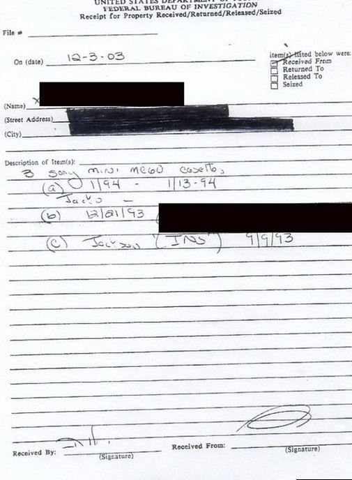 "Page 3 as ""FBI files"""