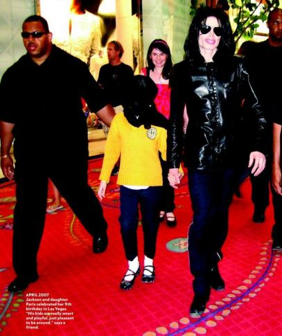 People Magazine, 2007. This is how Michael Jackson looked in April 2007 - a confident and vigorous man with a jaunty step
