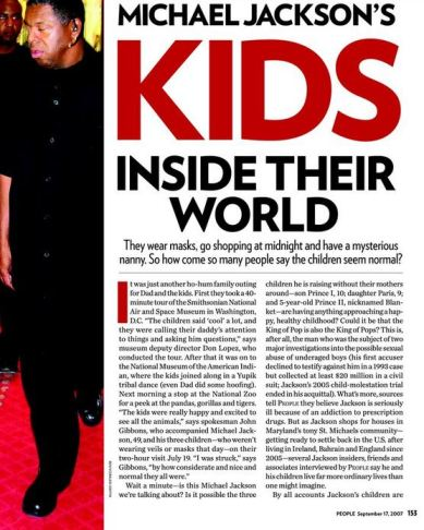 People Magazine, September 17, 2007