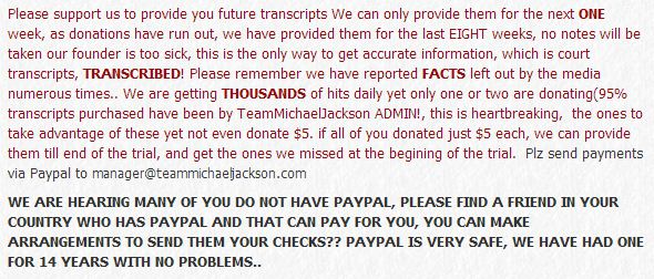 TeamMichaelJackson's appeal July 19th, 2013