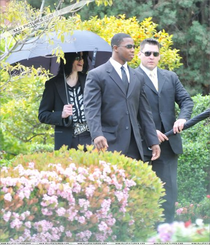 April 10, 2009 Leaving the Bel-Air hotel