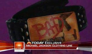 A belt from Christian Audigier's collection for Michael Jackson's clothing line