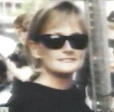 Debbie Rowe as a biker
