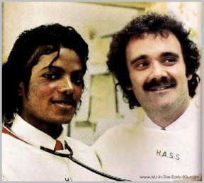 Michael with Dr. Hoefflin in the 1980s