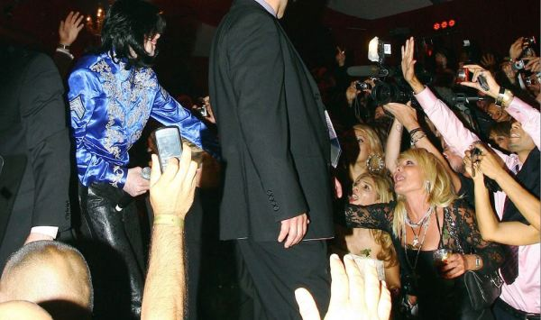 May 22, 2008 MJ attends Christian Audigier's birthday party. Testing Michael's likeability