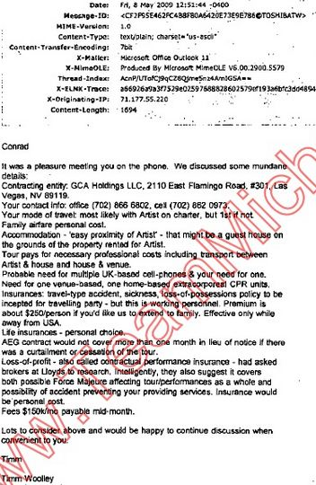 May 8, 2009 Timm Woolley's email to Murray 1