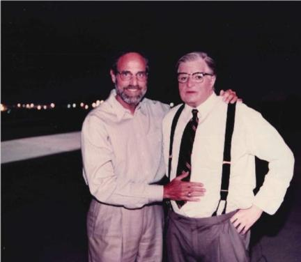 "Dr. Allen Metzger and Michael Jackson as the white mayor when shooting ""Ghost""."