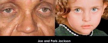 Joe and Paris Jackson with their light eyes