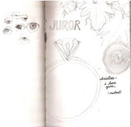 A random juror's note from: http://jurylaw.typepad.com/deliberations/american_gallery_of_juror_art/