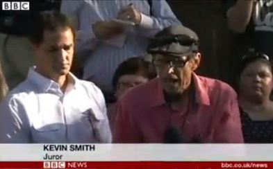 And BBC calls the same juror Kevin Smith. Discrepancies are all around us