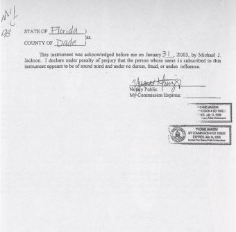 The General power of attorney was signed on January 31, 2003