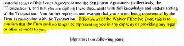 JJ's objection - April 2006 settlement agreement page 3a