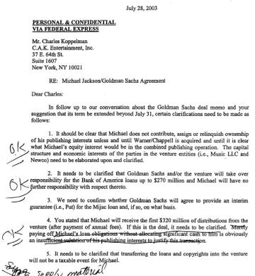 Secret letter to Goldman and Sachs 1