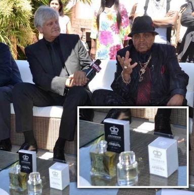 Wiesner with Joe Jackson promoting a line of Jackson perfume