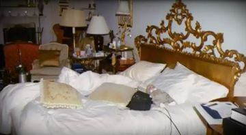 The doll could be left on the bed by someone else - Paris, for example