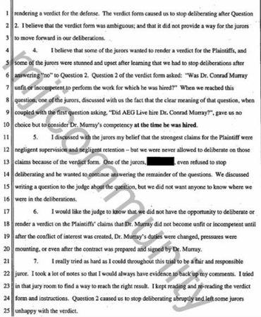 Juror's affidavit 4