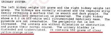 Urine 550 ml